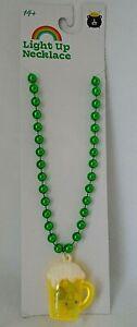St. Patrick's Day Light Up Beer Mug Necklace