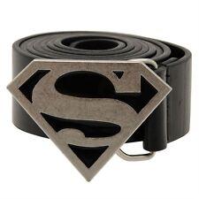 Cintura Superman Costume Fibia Fibbia Cintura Nero Pelle
