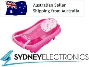 The First Years Newborn to Toddler Bath Tub w/ Sling Baby/ Infant Bathing- Pink