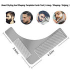 Men's Professional Stainless Beard Shaping Shaving Tool Comb for Lines&Symmetry