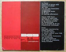 FERRARI 365 GTB/4 PININFARINA original 1972 Daytona Sales Brochure - #73/72