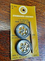 Strombecker #8310 1/24 Scale Dragster Wheels with axle  One pair NIP