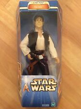 """Star Wars A New Hope Han Solo With Blaster Action 12"""" Action Figure Mint In Box"""