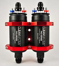 Dual 340LPH inline high flow EFI fuel pump 8an 10an bosch 044 style external an8