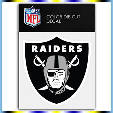 "Oakland Raiders Logo NFL Die Cut Vinyl Sticker Car Bumper Window 4""x4"""