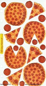 Pizza Sticko Flat Stickers - Slices of Pizza Italian Fast Food