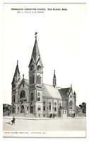 Early 1900s Immaculate Conception Church, New Munich, MN Postcard