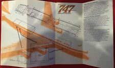 PAN AM AIRLINES B747 INTRO BROCHURE 1970