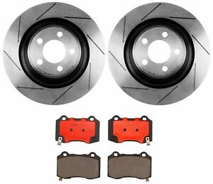 Brembo Rear Brake Kit 350mm Disc Rotors Ceramic Pads For 300 Challenger Charger