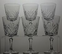 CUT GLASS CRYSTAL SHERRY OR PORT GLASSES SET OF 6