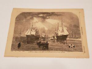 Our Prize Fleet Captured British Blockade Runners 1862 Civil War Harper's Weekly