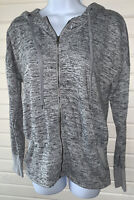 Athleta Sz XS Batwing and Robin Zip Front Hooded Stretch Jacket Gray Heather EUC