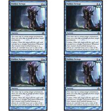 4 x HIDDEN STRINGS NM mtg Dragon's Maze Blue - Sorcery Com