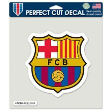 """FC Barcelona Official Soccer 8"""" x 8"""" Die Cut Car Decal Barca by Wincraft"""