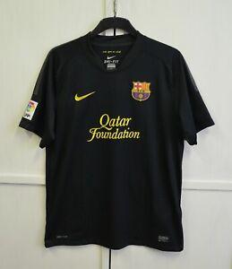FC Barcelona 2011/2012 Away Football Shirt Soccer Jersey Black Nike Men's Size L