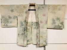 JAPANESE KIMONO JACKET (HAORI) NICE FLOWERS GIACCA GIAPPONESE STUPENDA!! $$$$$