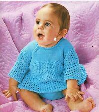 Baby lavoro a maglia motivo Lavoro A Maglia Motivo Per Bambini Angel top e pantaloni 16/20 DK