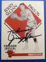 JERRY SLOAN deceased 2020 HOF signed autograph auto 1990 Hoops Chicago Bulls