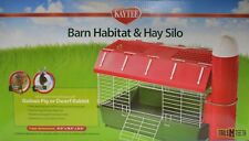 KayTee Barn Habitat & Hay Silo - Farm Theme for Guinea Pigs & Dwarf Rabbits
