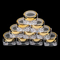 5~20 Sample Cosmetic Lid Jars Lip Balm Makeup Lotion Cream 5 G Golden Containers
