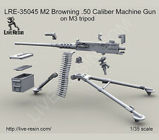 Live Resin LRE35045 1/35 M2 Browning .50 Caliber Machine Gun on M3 Tripod