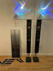 *** Bang & Olufsen BeoLab 8000 Silver Body & Gradient Grills Speakers ***