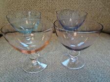 Set 4 ball stem glass liquor cocktail glasses assorted colors 5
