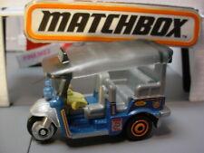 TUK-TUK☆blue/gray;Thailand ;3-wheeler Taxi☆MBX SERVICE☆2019 MATCHBOX loose