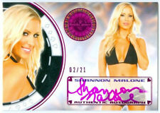 """SHANNON MALONE """"PINK AUTOGRAPH CARD #02/21"""" BENCHWARMER VEGAS BABY 2014"""
