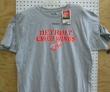 Brand New Men's Adult Nhl Detroit Red Wings Reebok Printed Face Off T-Shirt Xl