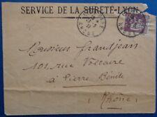 France enveloppe avec cachet gare de Lyon (Rhône) 1937