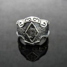 Silver 1% ER Outlaw Crazy Ring for Harley Davidson Hell Angels 81 Biker TR165