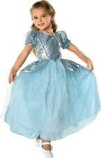 Beautiful Cinderella Palace Princess Aqua Ball Gown Polyester Costume, Rubies
