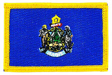 FLAG PATCH PATCHES MAINE  IRON ON EMBROIDERED UNITED STATES USA STATE