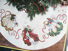 Christmas Dimensions GOLD COLLECTION Counted Tree Skirt KIT,MYSTICAL ANGEL,8474