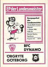 EC I 86/87 BFC Dynamo - Örgryte Göteborg, 01.10.1986