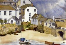 Corner of St Ives  Cornwall art print from Watercolour painting by Alex Pointer