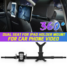 360° Rotating  Auto Car Seat Headrest Phone Holder Dual Mount For iPad Tablet