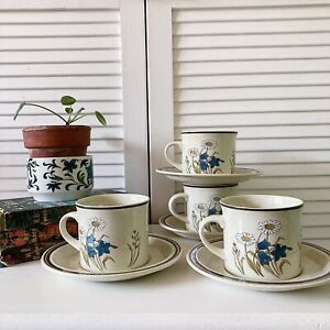 Vintage Royal Doulton Tea Cups Saucers  Mug Hill Top Tea  Party VW Lambethware