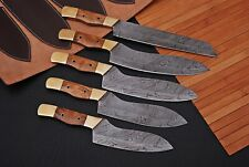 """5 """" Pieces Hand forged Damascus Chef Knives Set Kitchen Knives Set"""