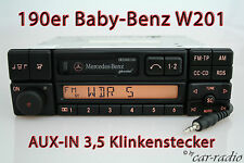 ORIGINALE Mercedes SPECIAL be2210 Aux-in mp3 w201 190er Classe C Cassetta Radio