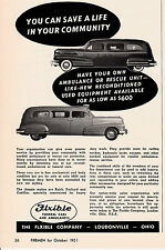 AMBULANCES AND FUNERAL CARS    BY FLEXIBLE   1951  AD        6716