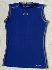 Under Armour Ymd Royal Blue Fitted Heat Gear Ups 50+ Shirt