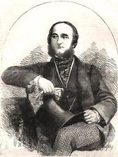 Sua eccellenza il Marchese d'Azeglio, l'Ambasciatore Sardo. ITALIA, 1855