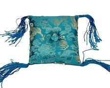 Tibetan Singing Bowl Cushion - Sky Blue