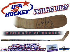 PHIL HOUSLEY Signed Game Used Stick TEAM USA WORLD CUP - w/COA HOLOGRAM