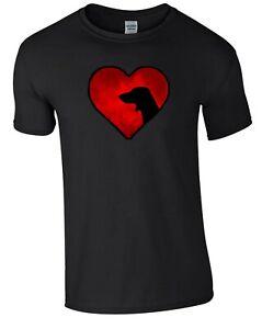 Black T-shirt, Dachshund in Heart Design Tshirt Dog Tee Shirt