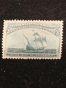 US Stamp # 232 . 3 Cent. MNH. OG. Make Offers !!!! XF/S !!!! GEM !!!!