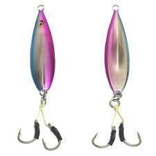 20 pcs Fall Flat OEM Keel Jig - 200gr Pink / Blue  with 6/0 Double Assist Hooks