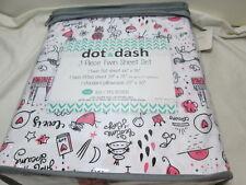 Dot & Dash LITTLE PRINCESS Twin Sheet Set ~  Unicorn, Crown, Castle, Heart, Star